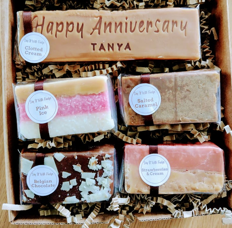 anniversary fudge gift box