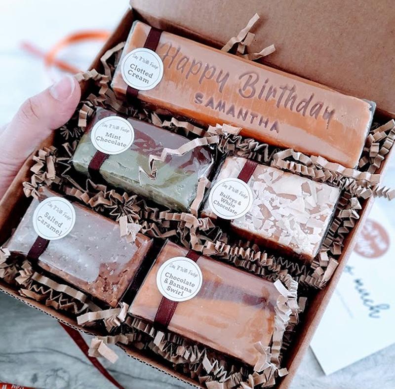 personalised birthday gift box fudge