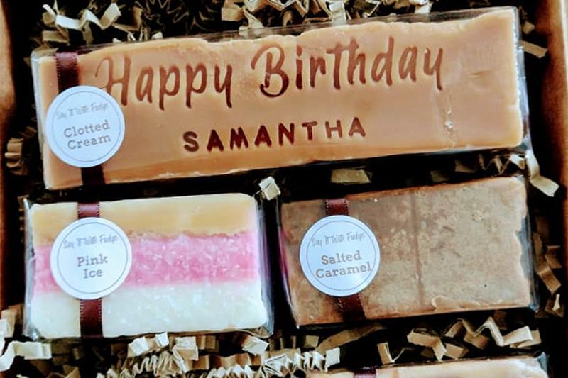 birthday fudge gift box
