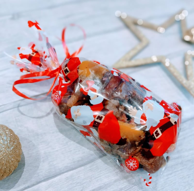 personalised christmas gift box fudge