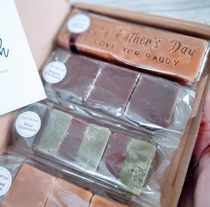 letterbox friendly fudge fathers day gift box