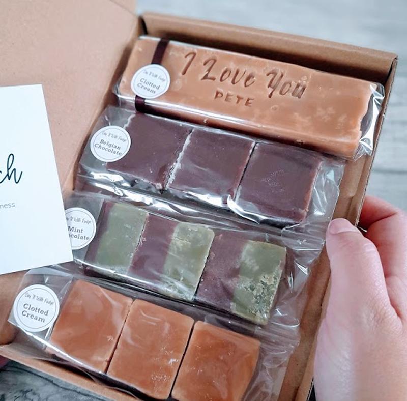letterbox friendly fudge valentines day gift box